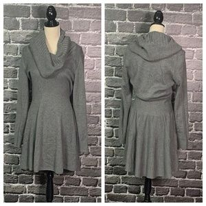 Victoria's Secret Gray Cowl Neck Sweater Dress M